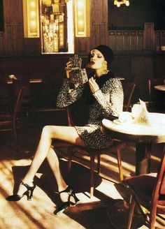 """""""A Sophisticated Season"""", Vogue US, September 1994Photographer: Helmut NewtonModel: Nadja Auermann  ( Requested by ghettoassbitch )    Editorial, fashion,photography"""