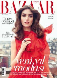 Manon Leloup Poses for Harpers Bazaar Turkey December 2013