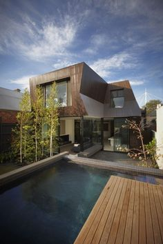 eh 280113 02 Modern Extension of a Heritage Residence in Melbourne: The Enclave House Amazing Architecture, Interior Architecture, Architects Melbourne, Design Exterior, Modern Mansion, Deco Design, Plein Air, Beautiful Homes, Modern Design