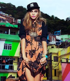 Cara Delevingne by Jacques Dequeker for Vogue Brazil February 2014