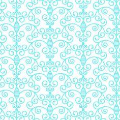Simply Swirls (Blue) Shelf Paper by ChicShelfPaper.com
