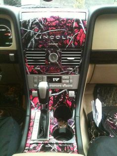 Muddy Girl Pink Camouflage Car Interior