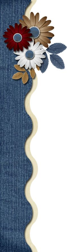 GRANNY ENCHANTEDS FREE DIGITAL SCRAPBOOK KITS: Free Americana Blue Digi Scrapbook Border Cluster 42