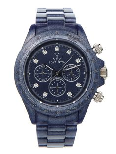 ToyWatch Unisex Pearlized Indigo & Crystal Watch