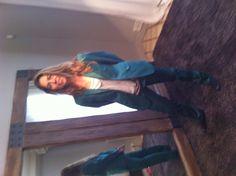 Margarita Puig quería un traje de hombre a su medida. Bonito color!!!