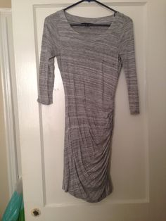Banana republic light heather gray ruched T-shirt dress, xs