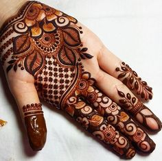 We have got a list of top Mehndi designs for Hand. You can choose Mehndi Design for Hand from the list for your special occasion. Henna Hand Designs, Eid Mehndi Designs, Best Arabic Mehndi Designs, Mehandi Design For Hand, Modern Mehndi Designs, Mehndi Designs For Girls, Wedding Mehndi Designs, Beautiful Mehndi Design, Mehndi Design Images