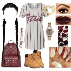 A fashion look from September 2014 featuring NLY Trend dresses, MCM backpacks and Rolex watches. Browse and shop related looks.