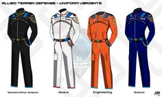 ATD Space Military Uniform Variants by Apocryphea.deviantart.com on @DeviantArt