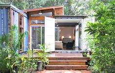 This shipping container home is unassuming on the outside and refreshingly classic on the inside