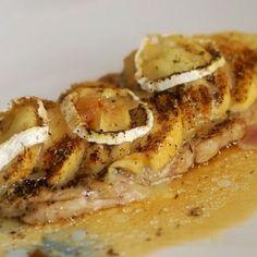 escalope de veau pomme-chèvre