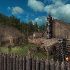 Small village made in pre-alpha