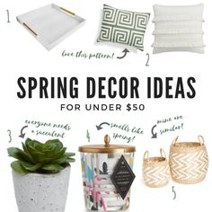 Spring Decor Ideas Under $50