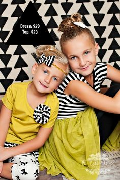 Perfect outfits for sister pictures!   On sale now at www.taylorjoelle.com  #photography #children #fashion