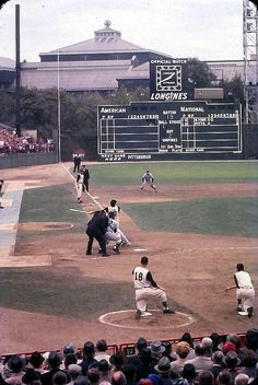1960 World Series at Forbes Field with Bill Virdon on deck
