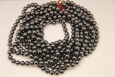 1strand  natural hematite plain ball 10mm by 3yes on Etsy