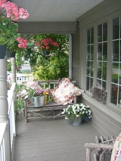 Use Plants to Define Spaces on porch