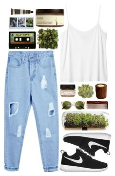 """Atmosphere"" by sophiecom ❤ liked on Polyvore featuring Monki, NIKE, Farmaesthetics, Crate and Barrel, (MALIN+GOETZ), Vascolari, Michele, Ahava, KEEP ME and women's clothing"