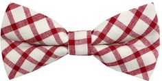 Carahere Handmade Mens Cotton Plaid Check Bow Ties M070 Red
