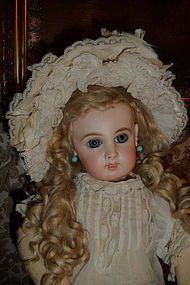 Gorgeous antique silk and lace doll bonnet
