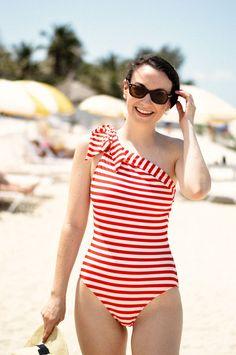 e010450be519d The J.Crew women s swim collection. Your summer forecast  abundant ...