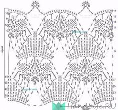Some more crochet patterns (schemes) / My creativity - knitting Crochet Stitches Chart, Crochet Borders, Crochet Diagram, Crochet Squares, Crochet Motif, Crochet Designs, Crochet Patterns, Crochet Home, Irish Crochet