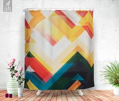 Artwork name: Mountain of energy  Original and personal artwork by Ulf Härstedt aka. HappyMelvin, turned into a beautiful shower curtain that decorate any bathroom of a nature lover perfectly.  Shower curtains that feature the original photography and graphics by Ulf Härstedt aka. HappyMelvin. Almost all sh ower curtains are trying to capture the feel of adventure, wanderlust and the beauty of our nature. Trying to bring wanderlust back into our homes as beautiful home decor.  NOT to be…