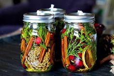 Mason Jar Oil Lamp with cotton wicks - gardenmatter.com