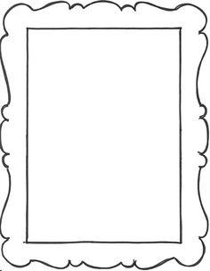 Printable Picture Frames Templates Your Own Picture Frame Coloring