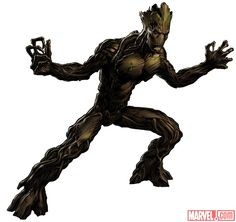 Groot in Avengers Alliance Marvel Avengers Alliance, Marvel Dc Comics, Marvel Heroes, Marvel Vs, Groot Avengers, Avengers Art, Marvel Comic Character, Marvel Characters, Character Art