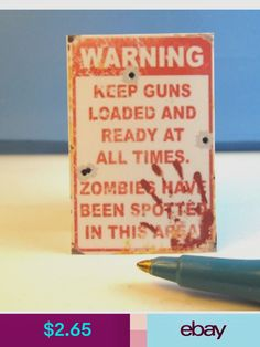 Dollhouse Furniture Dolls & Bears Zombie Apocalypse House, Dollhouse Furniture, Dollhouse Miniatures, Bears, Dolls, Signs, Products, Baby Dolls, Doll House Miniatures