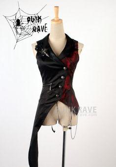 Punk Rave - Visual Kei Asymmetric Waistcoat