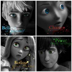 Jack, Merida, Rapunzel and Hiccup