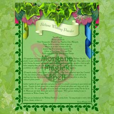 BELTANE WISHING POWDER Digital Download,Book of Shadows Grimoire, Wicca, Scrapbook, Spell, White Magick, Wicca, Wicca Sabbat, Witchcraft by MorganaMagickSpell on Etsy
