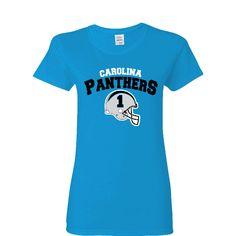 Carolina Panther Helmet Ladies T-shirt Sports Clothing