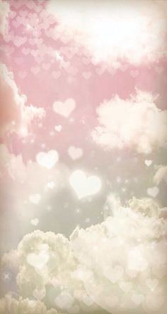 Pastel hearts Sky iPhone wallpaper