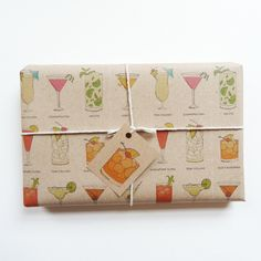 classic cocktails gift wrap