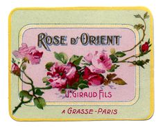 Vintage Graphic - French Soap or Perfume Label - Rose - The Graphics Fairy