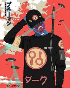 Burūman series on Behance Japanese Art, Character Design, Character Art, Samurai Wallpaper, Cyberpunk Art, Samurai Art, Art, Hip Hop Art, Aesthetic Art