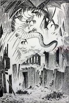 Tove Jansson - Vintage Illustrations for Tolkien's The Hobbit from Around the World Tolkien Hobbit, Tolkien Books, Lotr, The Hobbit, Hobbit Bilbo, Bilbo Baggins, Legolas, Gandalf, Art And Illustration