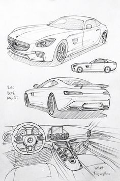 Prisma on paper.H to drawing a car Cool Car Drawings, Drawing Sketches, Art Drawings, Drawing Drawing, Drawing Tips, Car Design Sketch, Car Sketch, Auto Illustration, Industrial Design Sketch