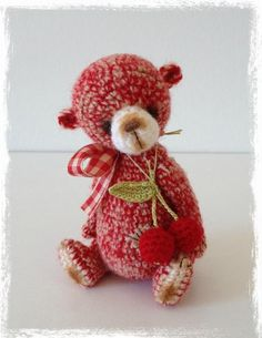 Looking for crocheting project inspiration? Check out Mini Thread Crochet Cherry Bear