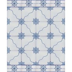 2614 Portuguese Bicesse Tiles from Portugal - Traditional decorative hand painted ceramic azulejo