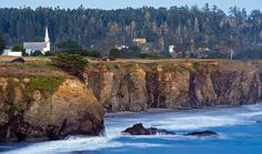 Mendocino, California -- when I die, I want my ashes sprinkled off the Mendocino Headlands