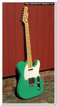 I must formally apologise to anyone who's not into Fender type guitars for yet another retrospective on a Telecaster. Telecaster Thinline, Green Electric, Instrument Sounds, Cool Electric Guitars, Beautiful Guitars, Reggae Music, Guitar Design, Vintage Guitars, Playing Guitar
