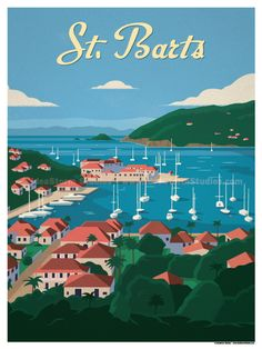 St. Barts Poster by IdeaStorm Studios ©2017. Available for sale at ideastorm.bigcartel.com