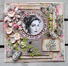 Til Lykke - Pia Baunsgaard - Stempelglede :: Design Team Blog Floral Wreath, Scrap, Frame, Journals, Projects, Blog, Vintage, Inspiration, Design