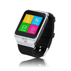 LEMFO Smartwatch inch Touch Screen Smart Watch Phone for Samsung Huawei HTC etc Android Smartphone Support Call SIM Apps Notification Sync FM TF Anti Lost Pedometer Sleep Monitor (Silver) Wrist Watch Phone, Watch For Iphone, Camera Watch, Smartwatch Bluetooth, Bluetooth Watch, Wearable Technology, Technology Gadgets, Best Smart Watches, Monitor