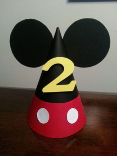 Mickey Mouse Party Hat by DaydreamsAndMoonbeam on Etsy