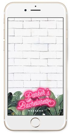 Order this cute custom Banana Leaf and Neon Snapchat Filter for your next party. It could be for a tropical Bachelorette Party, a Baby Shower, or Birthday Party—it's totally up to you!